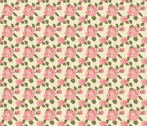 Mary Ann Kilrain _Rose pink fabric by lana_gordon_rast_ on Spoonflower - custom fabric