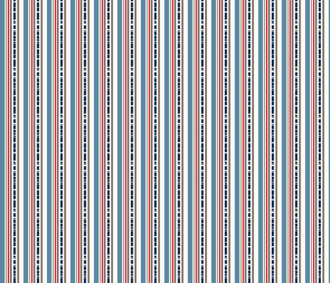 Mary Ann Kilrain Stripe_navy fabric by lana_gordon_rast_ on Spoonflower - custom fabric