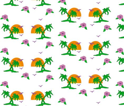 Banana trees fabric by slackbot on Spoonflower - custom fabric