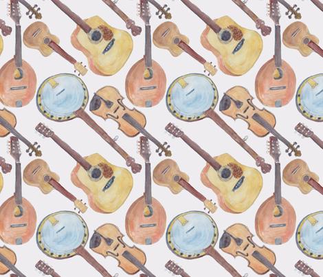 Chorus of Strings fabric by bloomingwyldeiris on Spoonflower - custom fabric