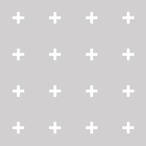 Gray Cross /// Gray Plus fabric by pencilmein on Spoonflower - custom fabric