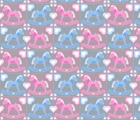 Rockabye Pony fabric by jjtrends on Spoonflower - custom fabric