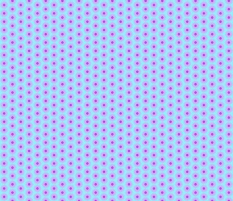 Daisy Mauve on Blue fabric by rmcaustralia on Spoonflower - custom fabric