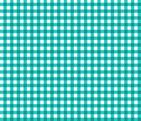 Turq_Gingham fabric by kelly_a on Spoonflower - custom fabric