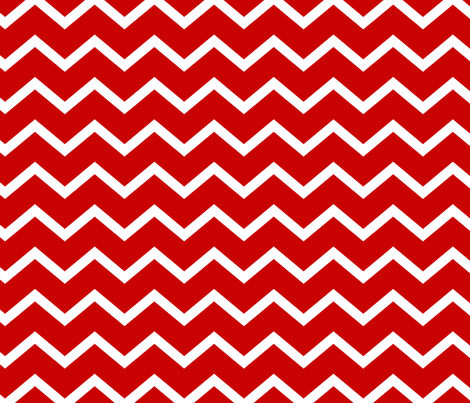 RED AND WHITE CHEVRON fabric by juneblossom on Spoonflower - custom fabric