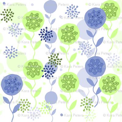 Spring Garden - Blue and Green