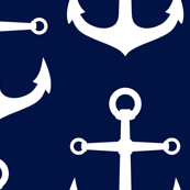 ANCHORS NAVY AND WHITE LARGE