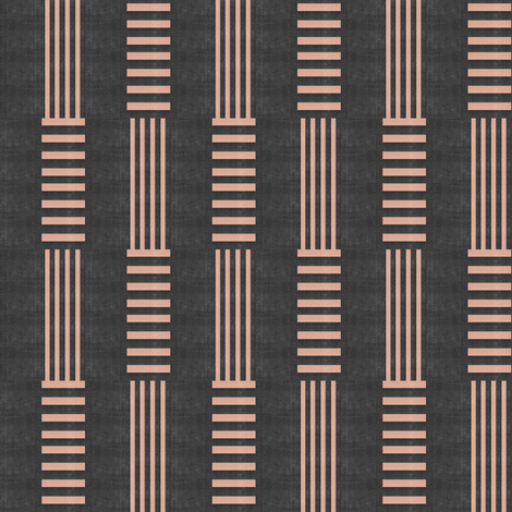 Candy Stripe Stacked - charcoal  fabric by materialsgirl on Spoonflower - custom fabric