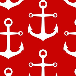ANCHORS RED AND WHITE LARGE