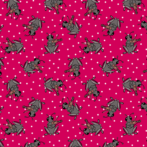 A Cricket and his Fiddle fabric by pond_ripple on Spoonflower - custom fabric