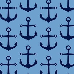 ANCHORS BLUE AND NAVY
