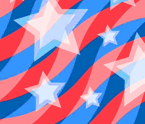 bright_stars_stripes fabric by scifiwritir on Spoonflower - custom fabric