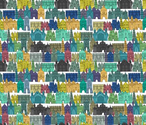 castle avenue day fabric by scrummy on Spoonflower - custom fabric