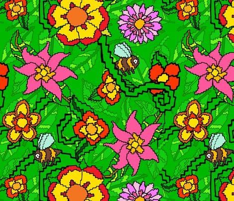 Rbees-green-green-leaves-and-flowers-illustrator_tile-01_shop_preview
