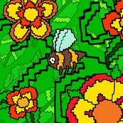 Rbees-green-green-leaves-and-flowers-illustrator_tile-01_shop_thumb