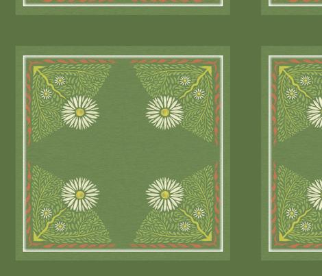 Art Nouveau Daisy Pillow fabric by vinpauld on Spoonflower - custom fabric