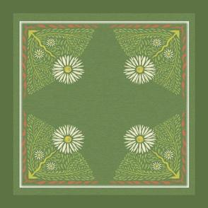 Art Nouveau Daisy Pillow