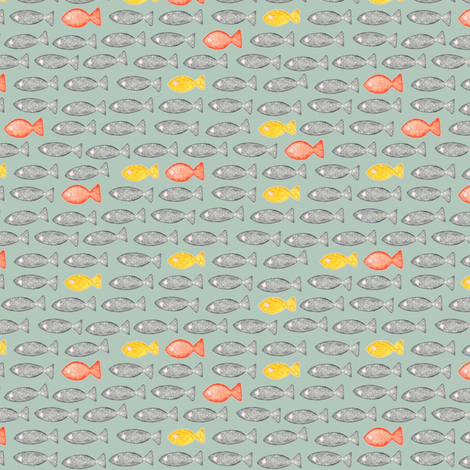 petite fishes fabric by scrummy on Spoonflower - custom fabric