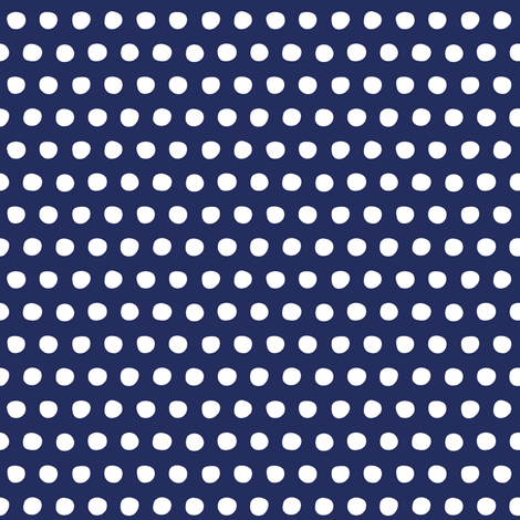 navy white petite polka fabric by scrummy on Spoonflower - custom fabric