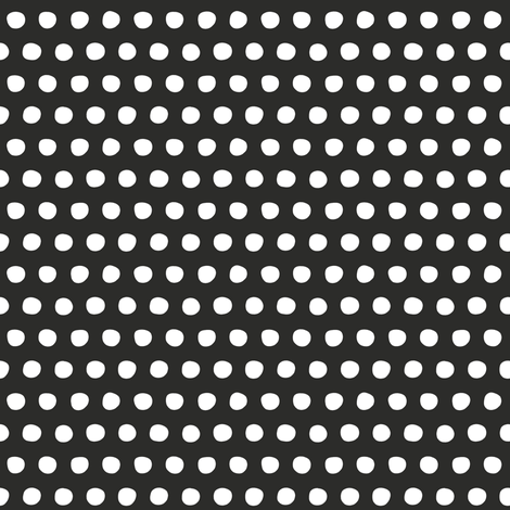 charcoal white petite polka fabric by scrummy on Spoonflower - custom fabric