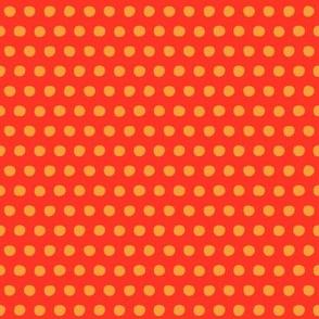 red saffron petite polka
