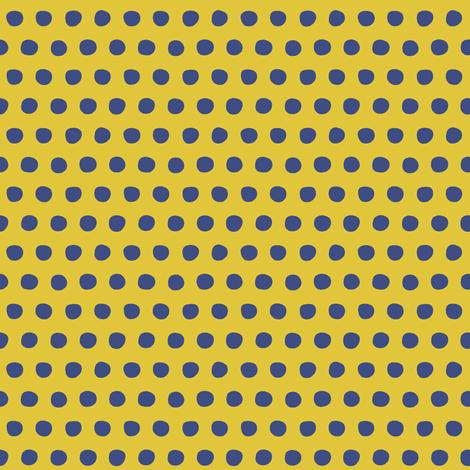 yellow blue petite polka fabric by scrummy on Spoonflower - custom fabric