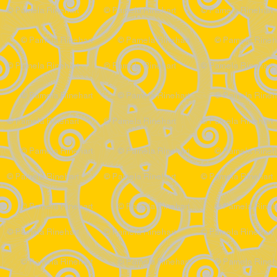 tribal tattoo spiral squares meyer lemon squeeze