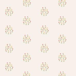 Flower Cluster, Cream