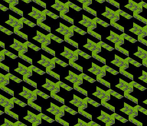 Floppytooth in Green fabric by ladyrattus on Spoonflower - custom fabric