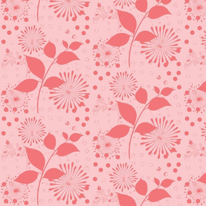 Blooms and Pinwheels in Strawberry Shake