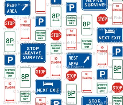Street Sign Montage - Rest Easy