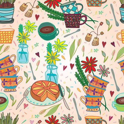 beautiful morning fabric by apolinarias on Spoonflower - custom fabric