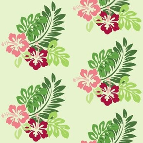 Hibiscus  - Half Size (Green Background)