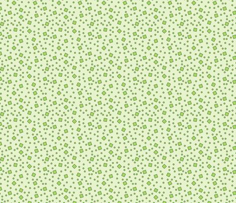 Hibiscus - Ditsy (Green) fabric by studiofibonacci on Spoonflower - custom fabric