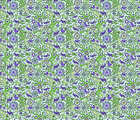 Crickets in the Garden fabric by vinpauld on Spoonflower - custom fabric