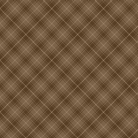 tartan X 90 : brown beige earth fabric by sef on Spoonflower - custom fabric