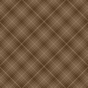 02223237 : bias tartan : brown beige earth
