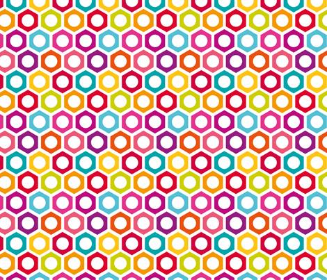 Hexagon Dot fabric by happyprintsshop on Spoonflower - custom fabric