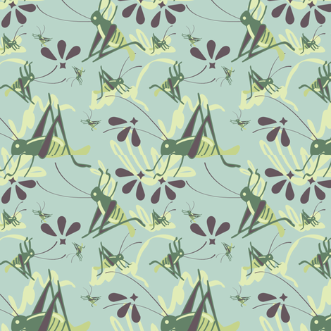 cricket fabric by doddlebee on Spoonflower - custom fabric