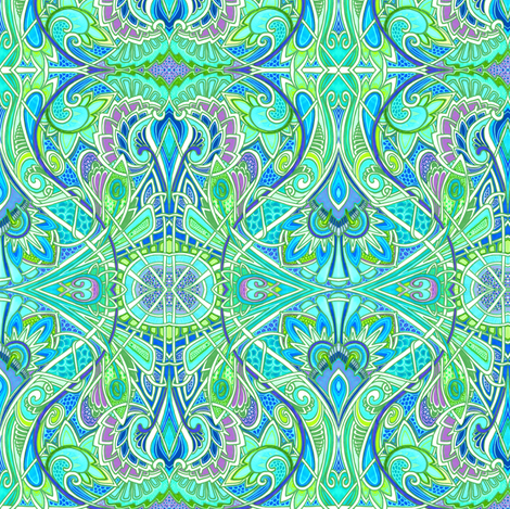 When the Paisleys Are in Bloom fabric by edsel2084 on Spoonflower - custom fabric