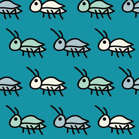 Ditsy Crickets Mini fabric by milkmod_studio on Spoonflower - custom fabric