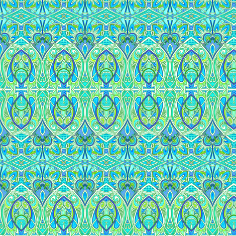 Playing the Paisley Card fabric by edsel2084 on Spoonflower - custom fabric