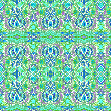 Thistle In the Sea Mist fabric by edsel2084 on Spoonflower - custom fabric