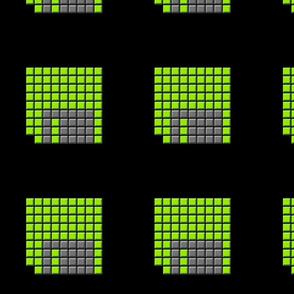 Floppy green button pocket