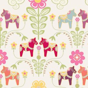 dala_horse_pastel_rose_ecru L