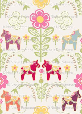 dala_horse_pastel_rose_ecru S