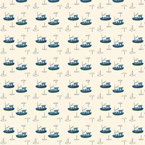 Blue Tug Boats