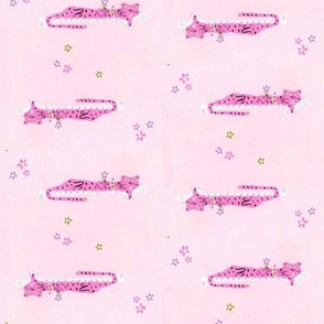 Sleeping Pink Leopards