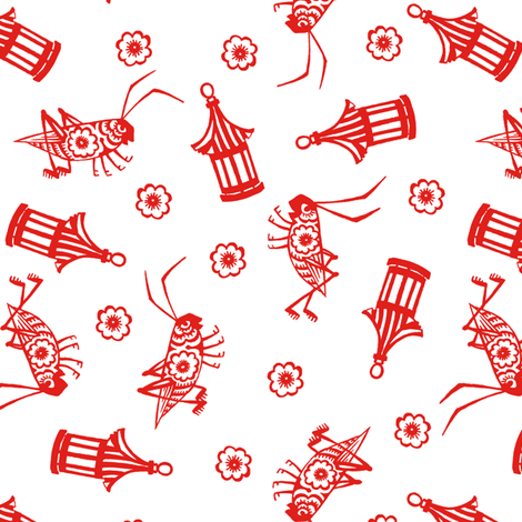 Paper Cut Crickets fabric by aimee on Spoonflower - custom fabric
