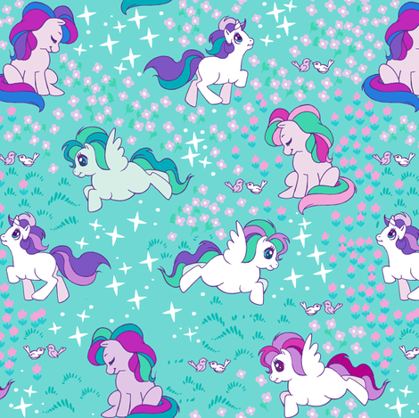 Magical Ponies V2. fabric by aimee on Spoonflower - custom fabric